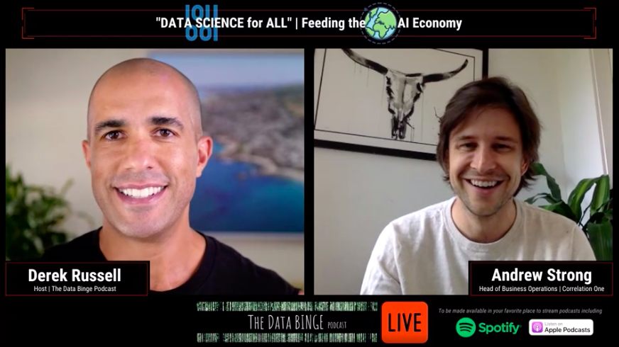 C1's Andrew Strong on the Data Binge Podcast // Data Science for All: Feeding the AI Economy