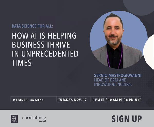 [Webinar] DS4A: How AI is helping business thrive in unprecedented times